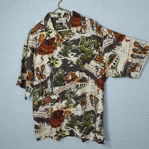 Tommy Bahama Western Hawaiian Silk Camp Shirt